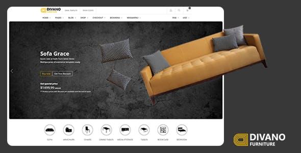 优雅的家具电商购物企业官网电商网页模板源码下载
