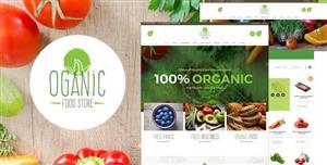 绿色食品商店电子商务网页模板
