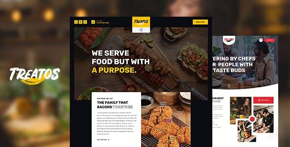咖啡厅和餐厅HTML5网站模板源码下载