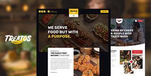 咖啡厅和餐厅HTML5网站模板