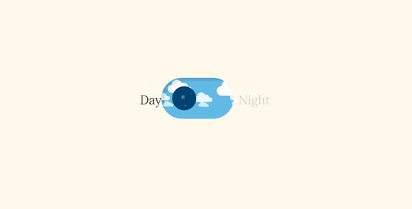 svg+js昼夜背景切换特效