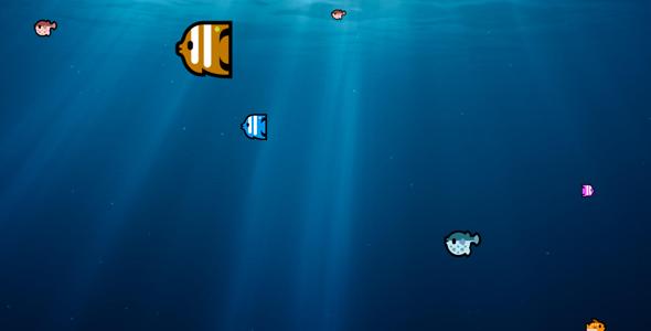 dat.gui.js很多小鱼在水里游动代码