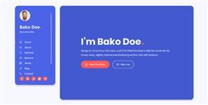 创意个人网站模板HTML5在线简历页面