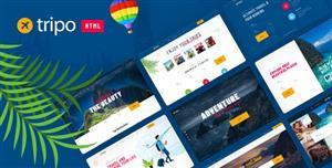 现代风格旅游业务或旅游机构HTML模板