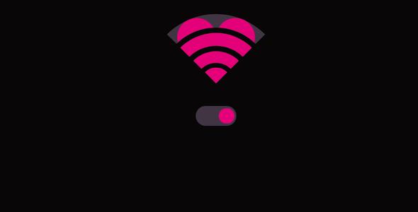 wifi信号爱心样式svg特效