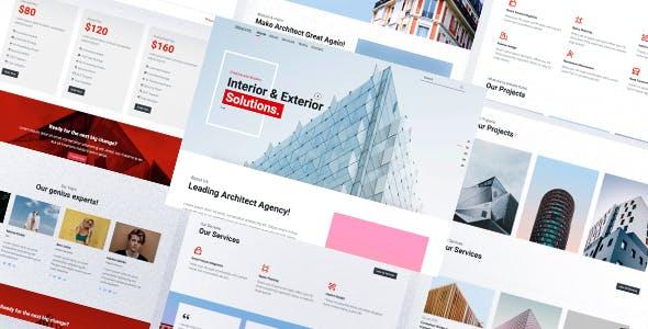 响应式建筑工程公司网页前端模板