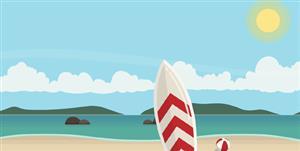 TweenMax+SVG沙滩海鸥视差动画