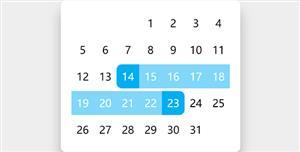 js拖拽选择日期范围