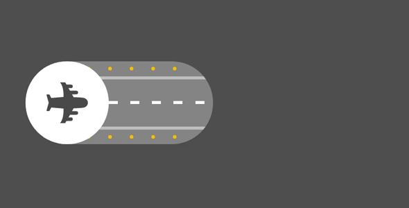 创意Toggle按钮飞机跑道