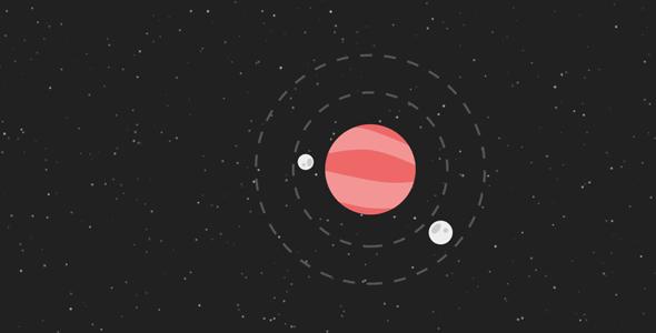 particles.js+svg行星轨迹动画