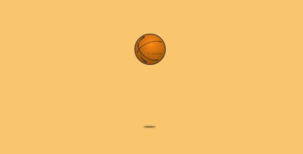纯CSS篮球跳动loading动画特效