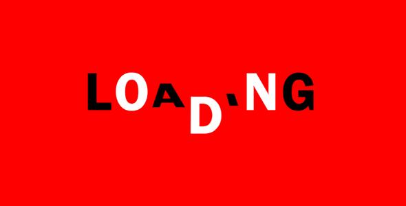 纯css3翻转文字loading特效源码下载