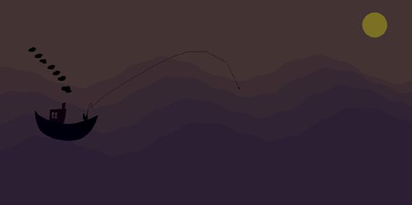 SVG夜晚航行动画特效