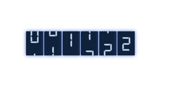 js数字整体翻转变化特效