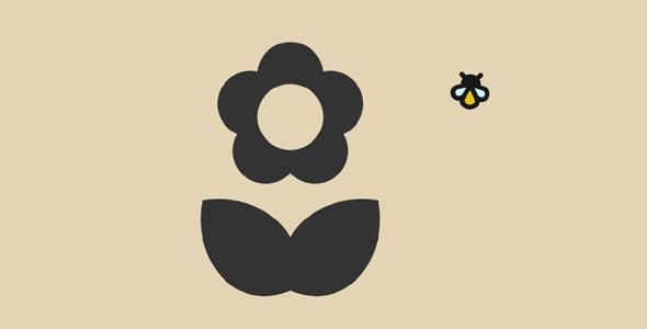 svg开花动画小蜜蜂飞舞特效代码