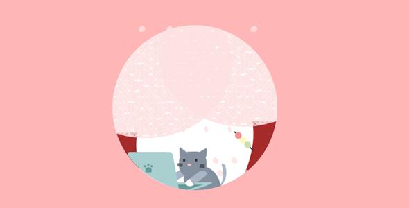 小猫电脑工作css3动画特效