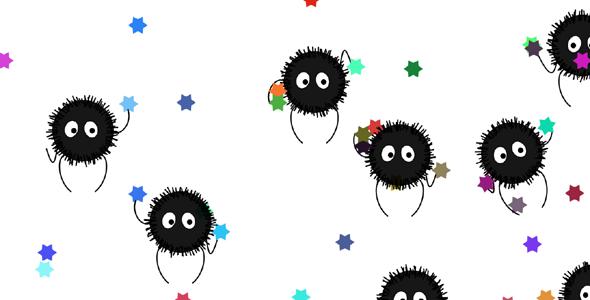 p5js绘制可爱的小病毒样式