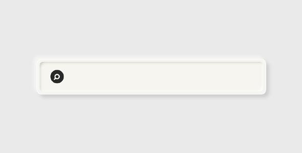 css立体样式搜索框