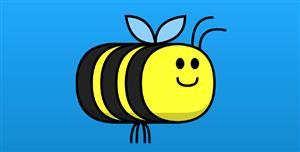 svg实现的可爱蜜蜂动画特效