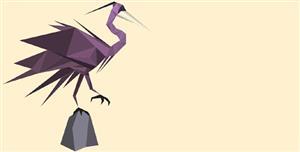SVG画的千纸鹤鸟类