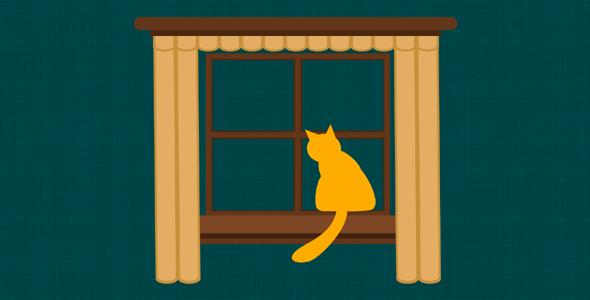 小猫摇尾巴svg动画特效