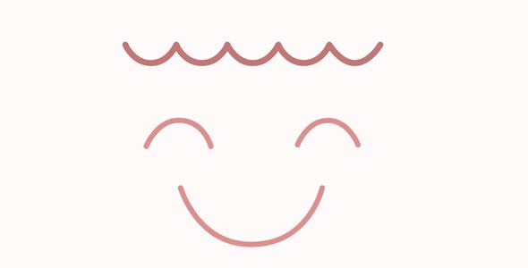 svg绘制笑脸路径动画特效