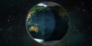 css3代码地球自转视差特效