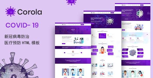 新冠肺炎医疗预防HTML模板