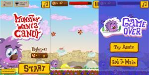 HTML5小怪兽吃糖果小游戏源码