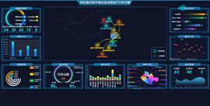 echarts大数据综合治理分析云图