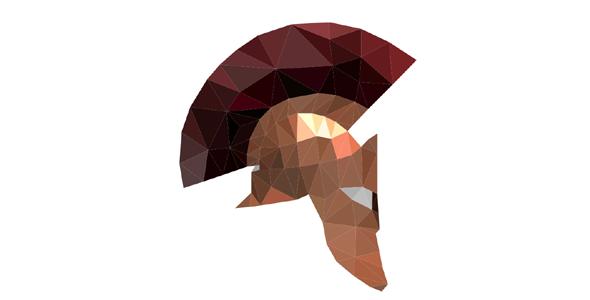 svg斯巴达式的多边形头盔