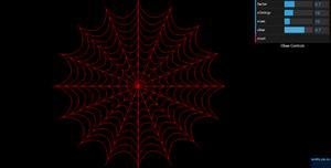 dat.gui.js绘制的蜘蛛网特效
