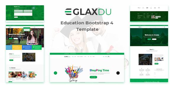 绿色大气教育行业学校网站前端模板