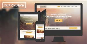 响应式HTML5教堂网站前端模板