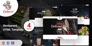 创意餐饮行业快餐网页前端模板