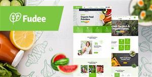 绿色的农场有机蔬菜水果电商网页模板