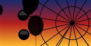 canvas气球和摩天轮动画特效