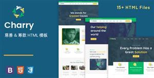 捐款和慈善基金会网站HTML模板