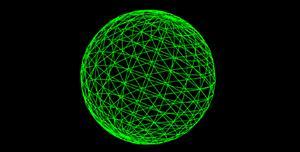 镂空球体3d旋转svg特效