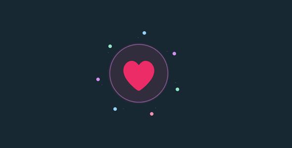 jquery+svg点赞爱心按钮动画特效