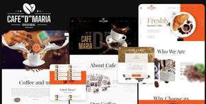 漂亮的咖啡店网页前端HTML模板