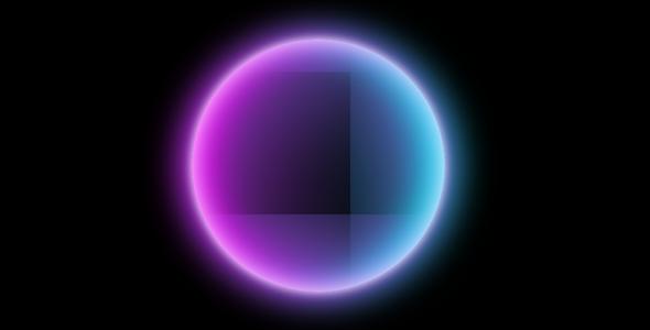 纯css3发光圆形球体特效