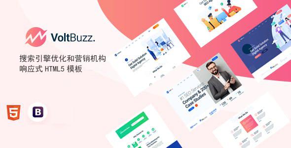 搜索引擎优化和营销机构网页模板