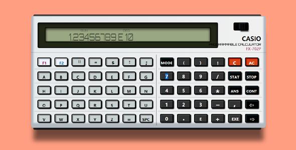 纯css代码绘制的计算器样式