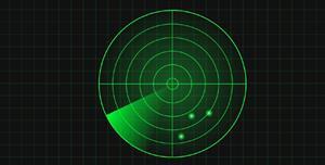 CSS3实现的雷达扫描动画特效