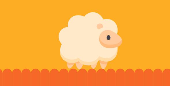svg+gsap小绵羊跑步动画特效代码