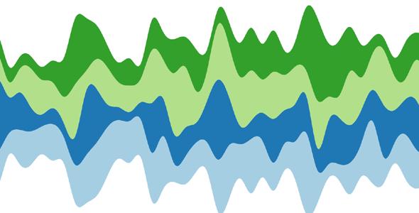d3.js动态蒸汽图表特效