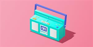 CSS3绘制的收音机带动画效果
