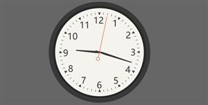 svg时钟动画特效代码
