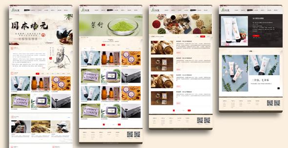 中国风健康养生网站HTML模板源码下载